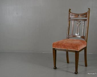 Single Edwardian Art Nouveau Dining Chair