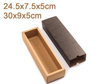 10 Pcs Scarves and Leather Drawer Box/Drawer Kraft Boxes/Tea Box/Gift Box for small package TZ1287