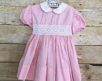 Vintage pink toddler party dress easter dress Size 2T