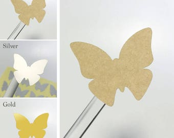Shape Stickers Labels Seals [Pack of 40] #butterfly