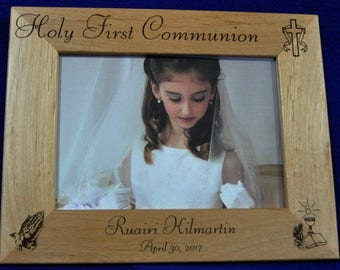 Gift For First Communion ~ 1st Communion Frame ~ Christian Frames ~ Gift For Communion ~ Religious Gifts ~ Custom Picture Frames ~ Frame ~