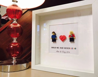 Engagement gift - Lego frame - completely customable!