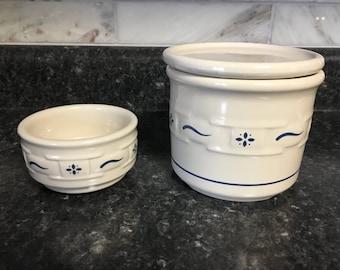Longaberger Pottery Vintage Longaberger Crock set #L122016-06