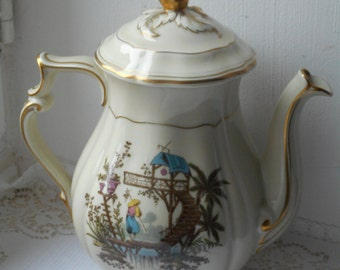 vintage French Limoges B & Co decorative coffee pot / tea pot