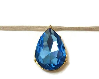 Blue Crystal Necklace, Crystal Choker, Crystal Choker Necklace, Blue Choker, Blue Choker Necklace, Choker With Pendant, Pendant Choker