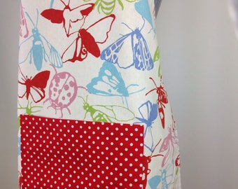 Reversible apron. Butterfly apron. Full apron. Adjustable apron. Women's apron