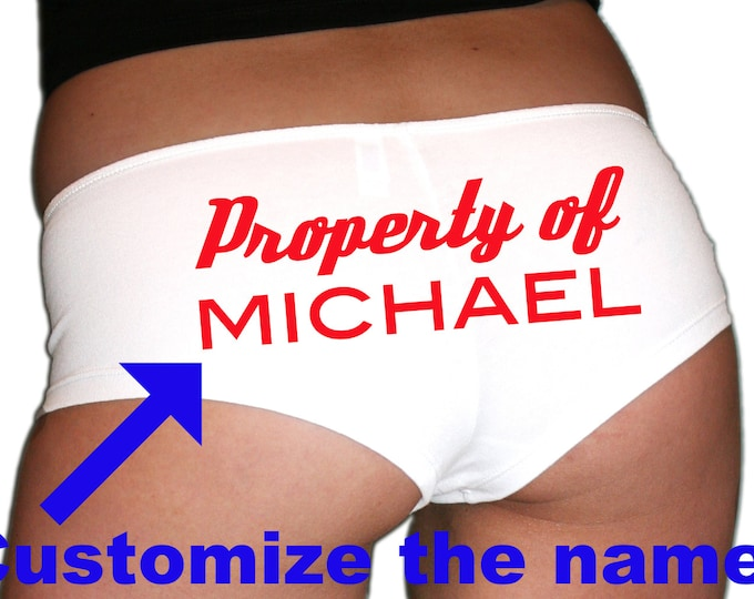Custom Property Of Underwear Red Text