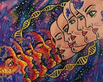 Transdimensional Love - Original Art Print
