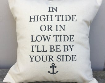 High Tide Low Tide Pillow Cover