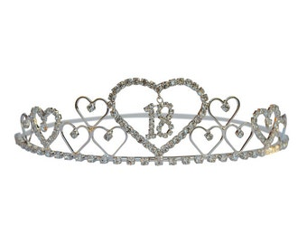18th Birthday Tiara Diamante Crystal 18th Crown 18th Birthday Gift