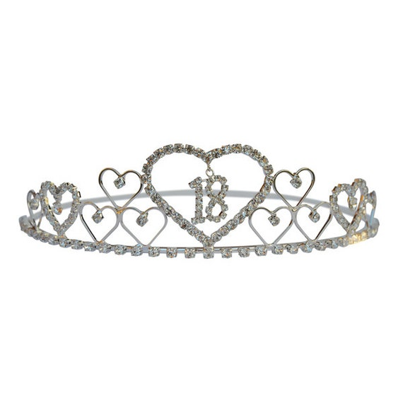 18th Birthday Tiara Diamante Crystal 18th Crown 18th Birthday