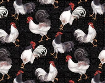 Country Touch Black Chickens from Wilmington Prints by the yard