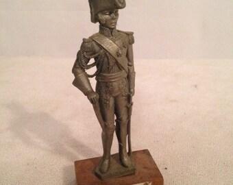 Figurine Statue CHESTERMAN Prince Marshal SOULT Duke of Dalmatian Tin pewter