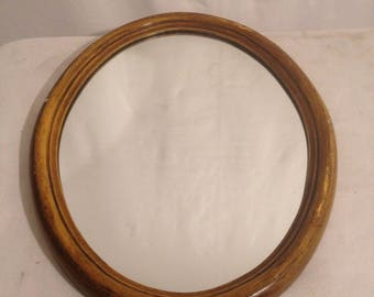 Old Oval + frame Vintage mirror