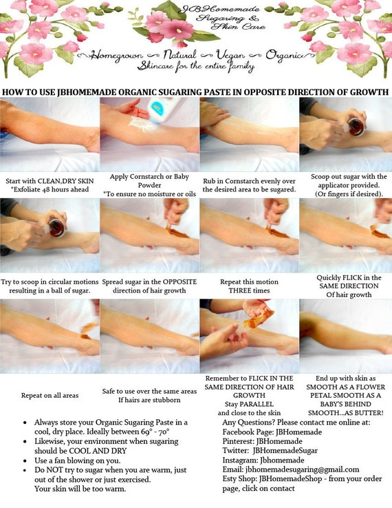 Sugaring Wax Instructions - Picture Tutorial