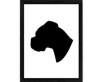 Boxer Dog Silhouette PRINT