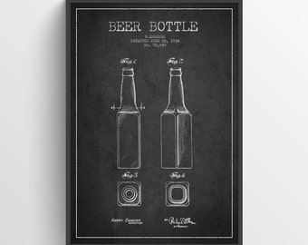 1934 Beer Patent Poster, Beer Poster, Beer Print,  Pup Wall Art Decor, Home Decor, Gift Idea, LSFB05P