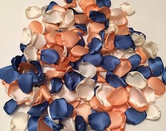 Peach Rose Petals/Blue Rose Petals/Aisle Decor/Peach Wedding Decor/Blue Wedding Decor/Southern Chic Wedding/Antique Blue Petals