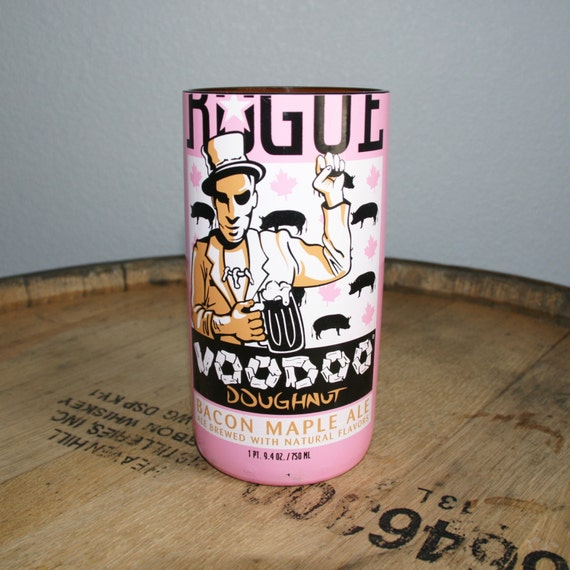 UPcycled Pint Glass - Rogue - Voodoo Doughnut Bacon Maple Ale