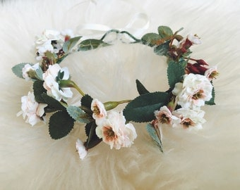 Newborn & Bridal Cream Primrose Crown