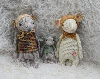Amigurumi mouse family