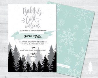 baby its cold outside baby shower invitation, winter baby shower invitation, winter wonderland baby shower invitation