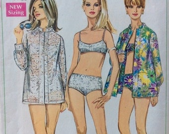 Simplicity 7645 misses two-piece bathing suit and shirt size 8 bust 31 1/2 vintage 1960's sewing pattern