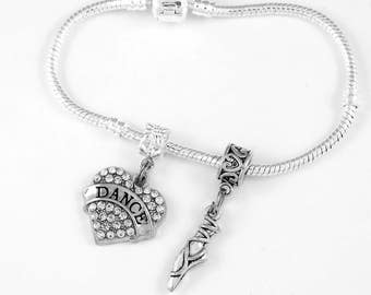 Dance Bracelet Ballet Gift Ballet Dancer Bracelet  Ballet Gift Dancer Jewelry Dance Present Ballet Shoe
