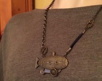 Steampunk dirigible necklace