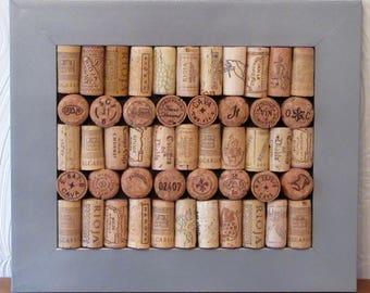 Silver Chrome Effect Framed Wine Cork Noticeboard / Corkboard / Pinboard