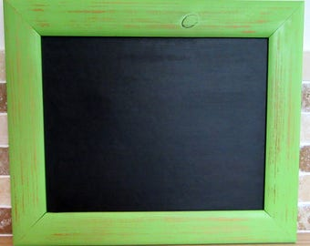 Green Distressed 'Shabby Chic' Framed Chalkboard / Blackboard / Notice Board / Kitchen / Memo