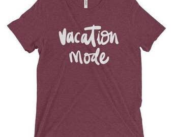 Vacation Mode Cute Handlettered Summer Women's Boyfriend Tee
