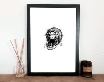 Beyoncé print - Queen B - for strong women
