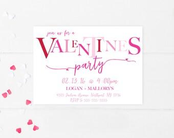 Valentines Day, Valentines Party Invitation, Valentines Party, Happy Valentines Day, Valentine Cards, Valentines Day Invites, Custom [372]
