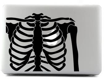 Ribcage, Custom sticker, Decal sticker, MacBook, Viny Sticker, Apple Sticker, Custom Sticker, MacBook Decal, MacBook Skin