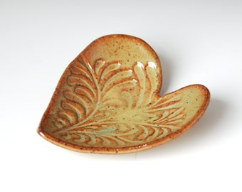 Teal Heart Trinket/Ring Dish