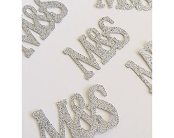 Initial Confetti, Engagement confetti, Mr & Mrs, Bride to be, Initial decoration, Letter confetti, Wedding initial confetti- 25 total pieces