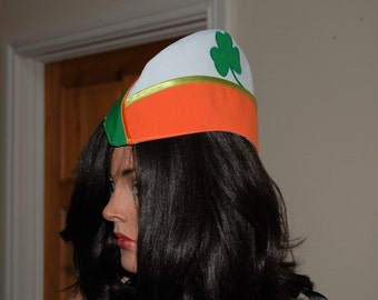 St Patrick's Day hat , Irish style hat ,Captain Shamrock Irish style hat,
