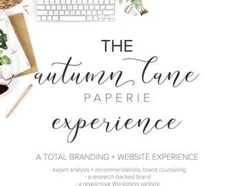 The Autumn Lane Experience Branding Package, Logo Design, Website Design, Custom Logo Design, Business Branding, Blog Branding, Wordpress