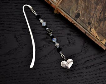 Swarovksi Crystal Thank You Bookmark, Beaded Bookmark, Thank You Gift for Neighbour, Gift for Teacher, Gift for Friend, Gift for Mother