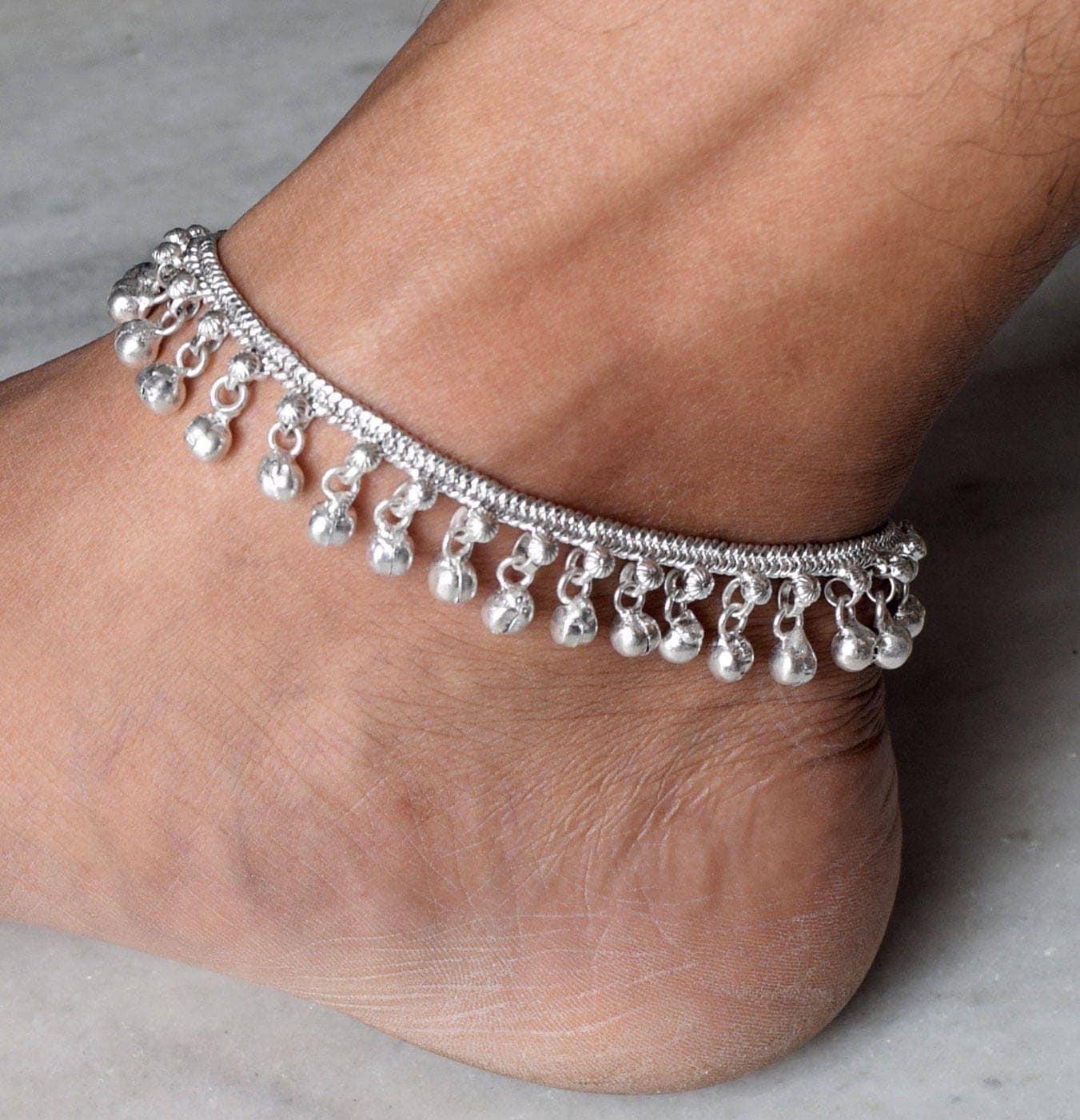 Anklet Silver Anklet Ankle Chain Bells Anklet Bracelet