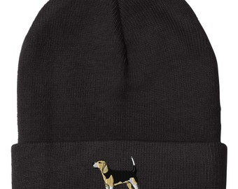 Beagle Embroidery Embroidered Beanie Skully Hat Cap  (BNANMDG0064)