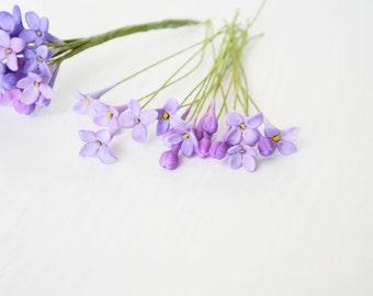 25 Lilac Sugar Flowers