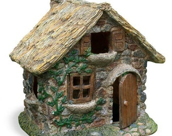 Fairy Garden  - Hand Thatched Roof House - Miniature