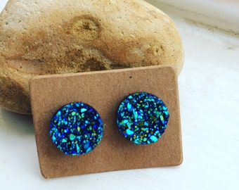 Galaxy glitter earrings