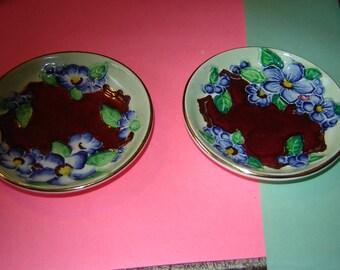 Maling England pair of pin dishes