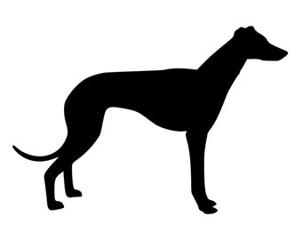 DIY Greyhound Dog Vinyl Decal, Greyhound Lover, Laptop decal, Car Window Decal, Tablet Decal, Cell Phone Decal, Drinkware