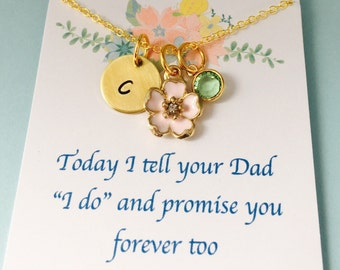 Stepdaughter Necklace, Stepdaughter Wedding Gift,