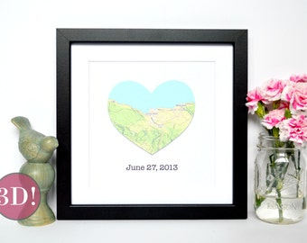 Personalized Gift for couple-  Engagement Gift, Anniversary Gift, Gift for Him, Gift for Her,  Map Gift,  Gift Ideas Travel Themed Wedding