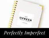 PERFECTLY IMPERFECT 2017 Refresh Weekly Planner: Pink Plus Pattern // Weekly Planner, 2017, Agenda, Wire-bound, Calendar, Planning, Weekly